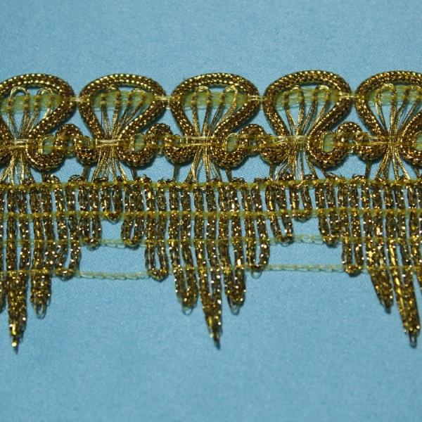 Бахрома металлизированная отделочная с зубчатыми краями