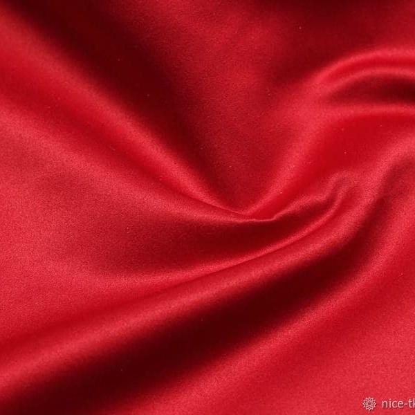 Ткань костюмно-платеная Атлас (красный)