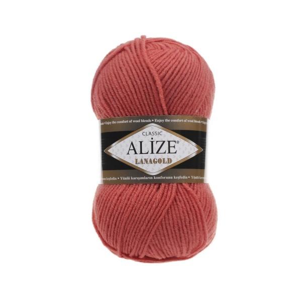 Пряжа LANAGOLD (Alize), цвет 154 коралловый