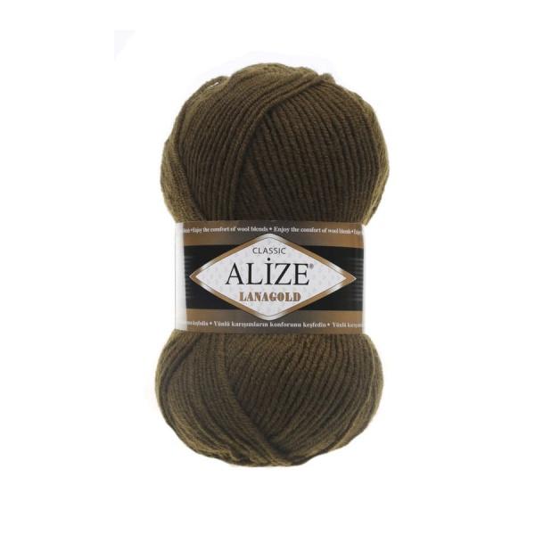 Пряжа LANAGOLD (Alize), цвет 214 оливковый зеленый