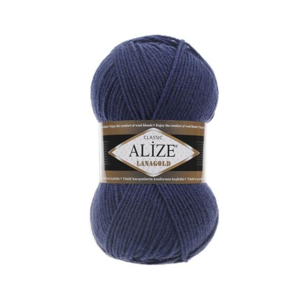 Пряжа LANAGOLD (Alize), цвет 215 черника