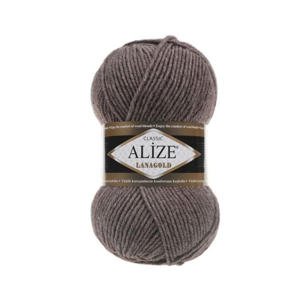 Пряжа LANAGOLD (Alize), цвет 240 коричневый меланж