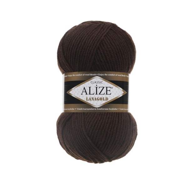 Пряжа LANAGOLD (Alize), цвет 26 коричневый