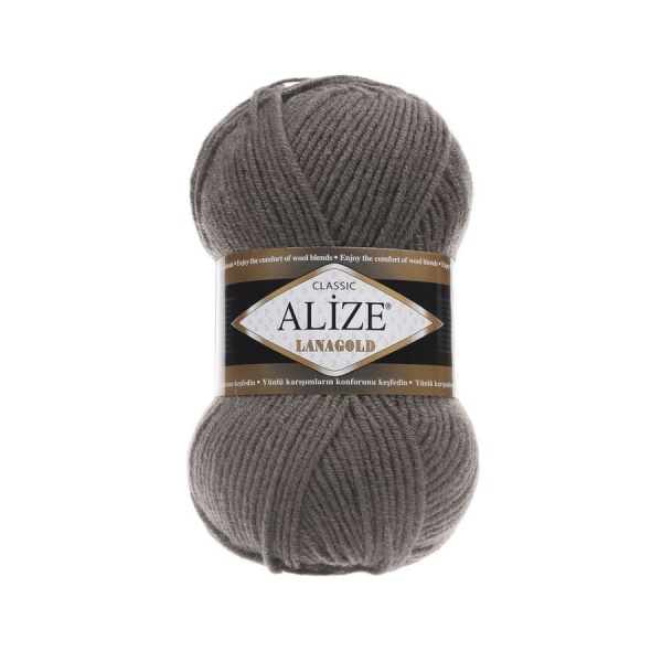 Пряжа LANAGOLD (Alize), цвет 348 темно-серый