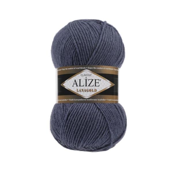 Пряжа LANAGOLD (Alize), цвет 381 морская волна