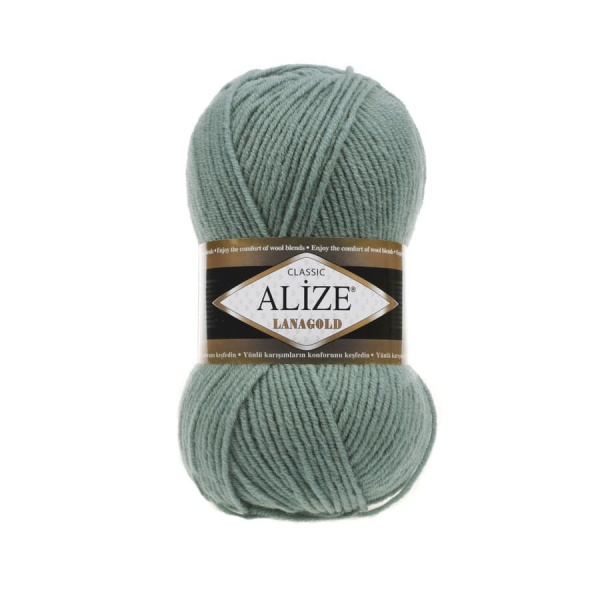 Пряжа LANAGOLD (Alize), цвет 386 лазурный