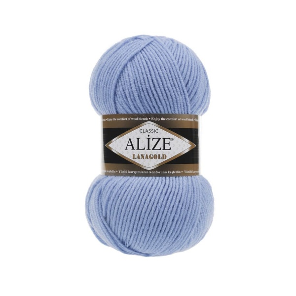 Пряжа LANAGOLD (Alize), цвет 40 голубой