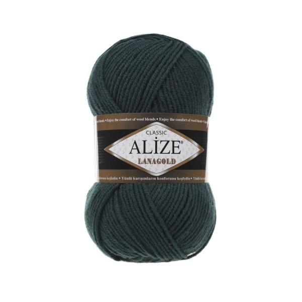 Пряжа LANAGOLD (Alize), цвет 426 темно-зеленый