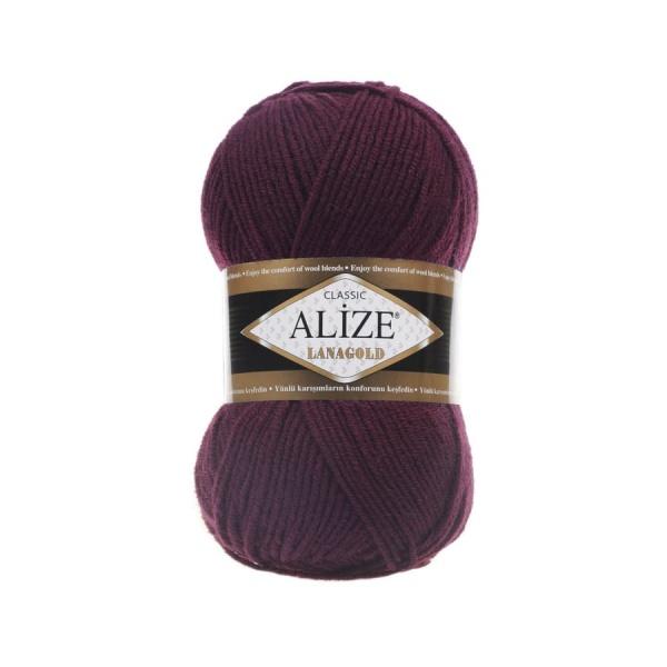 Пряжа LANAGOLD (Alize), цвет 495 свекольно-красный
