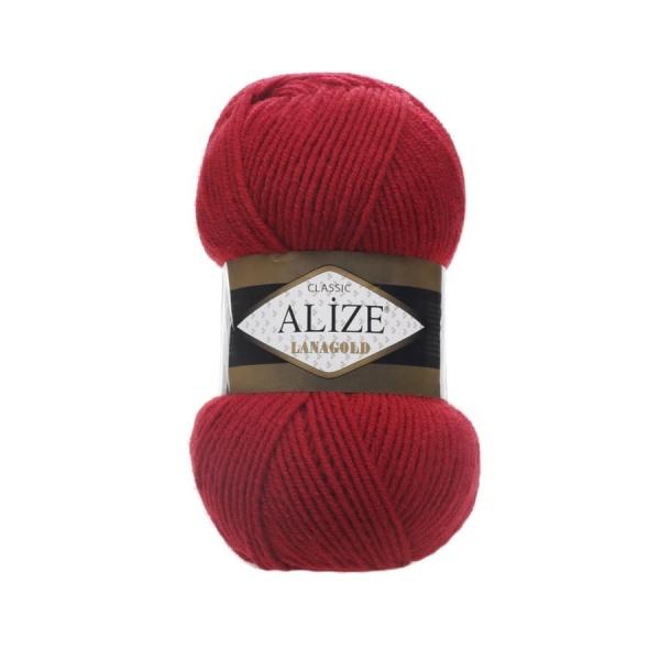 Пряжа LANAGOLD (Alize), цвет 56 красный