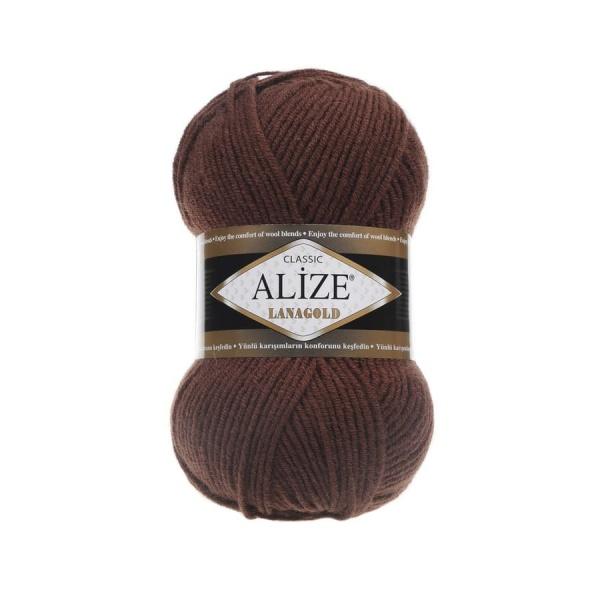 Пряжа LANAGOLD (Alize), цвет 583 каштановый