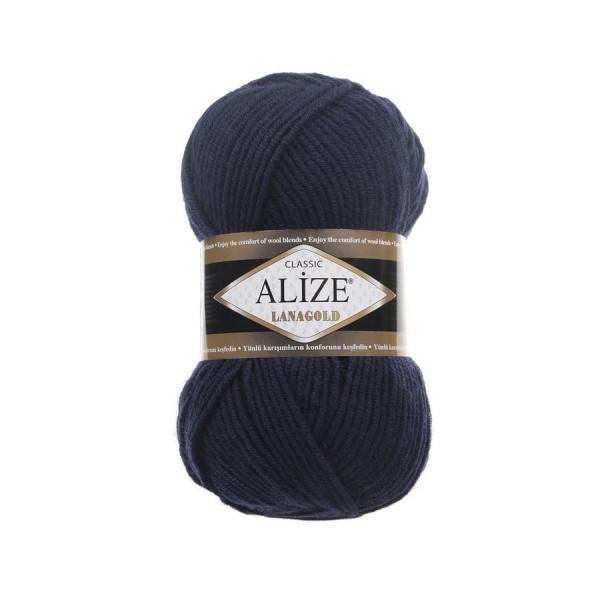 Пряжа LANAGOLD (Alize), цвет 58 темно синий