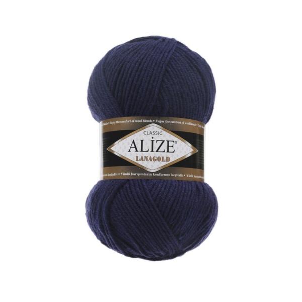 Пряжа LANAGOLD (Alize), цвет 590 чернильный