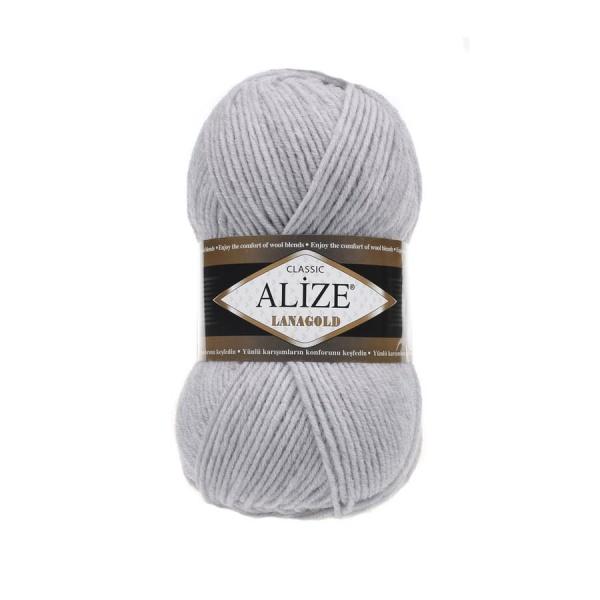 Пряжа LANAGOLD (Alize), цвет 684 пепельный меланж