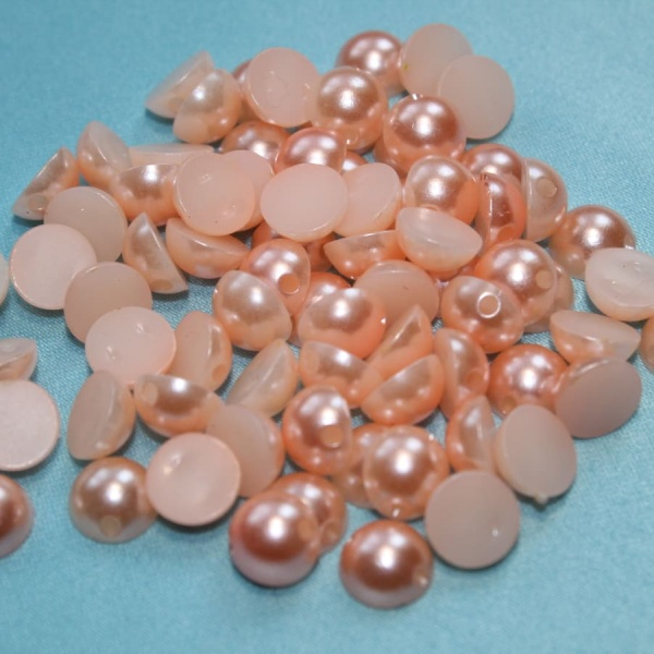 Полубусина круглая, 8 мм оранжевая