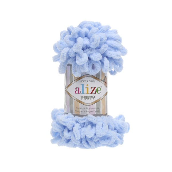 Пряжа PUFFY (Alize), цвет 183 светло-голубой