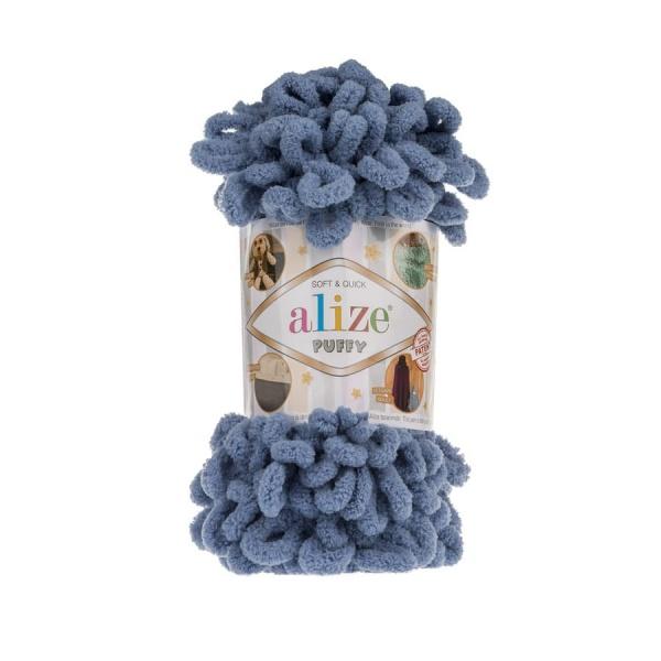 Пряжа PUFFY (Alize), цвет 374 голубой