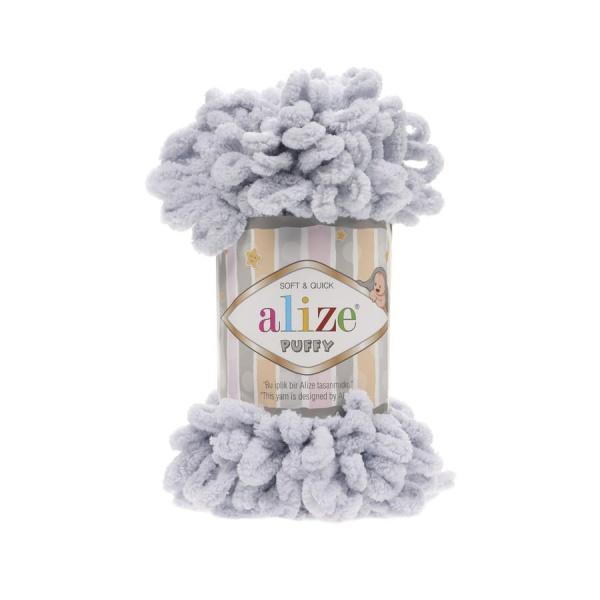 Пряжа PUFFY (Alize), цвет 416 серый