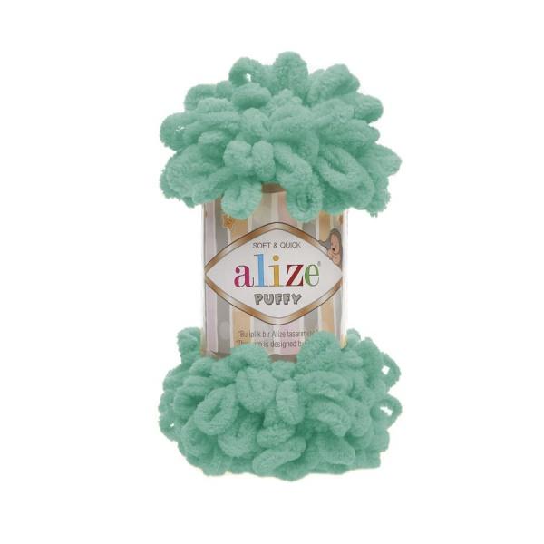 Пряжа PUFFY (Alize), цвет 490 морская волна