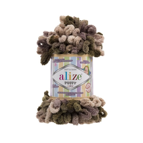 Пряжа PUFFY COLOR(Alize), цвет 5875