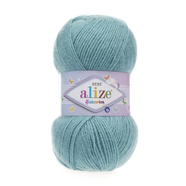 Пряжа Sekerim BEBE  (Alize), цвет 124 лазурный