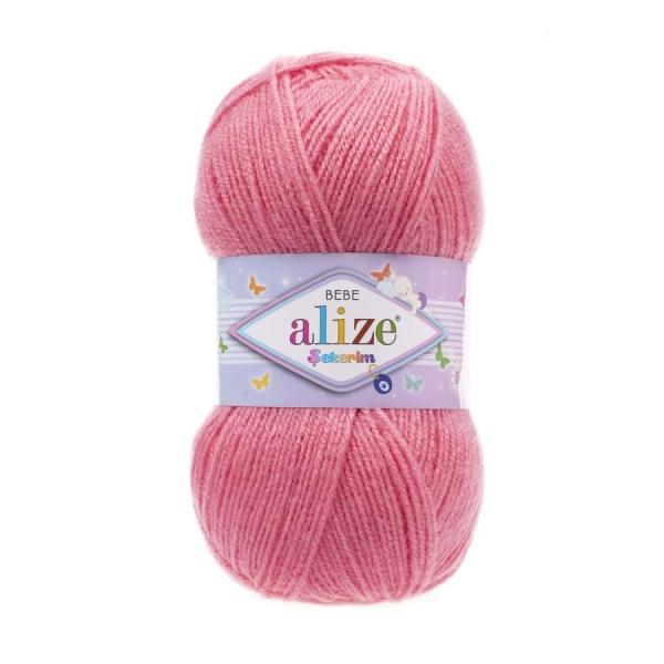 Пряжа Sekerim BEBE  (Alize), цвет 170 темно-розовый