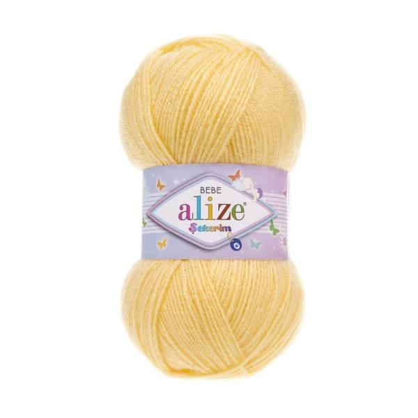Пряжа Sekerim BEBE  (Alize), цвет 187 лимонный