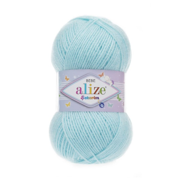 Пряжа Sekerim BEBE  (Alize), цвет 189 светло-бирюзовый