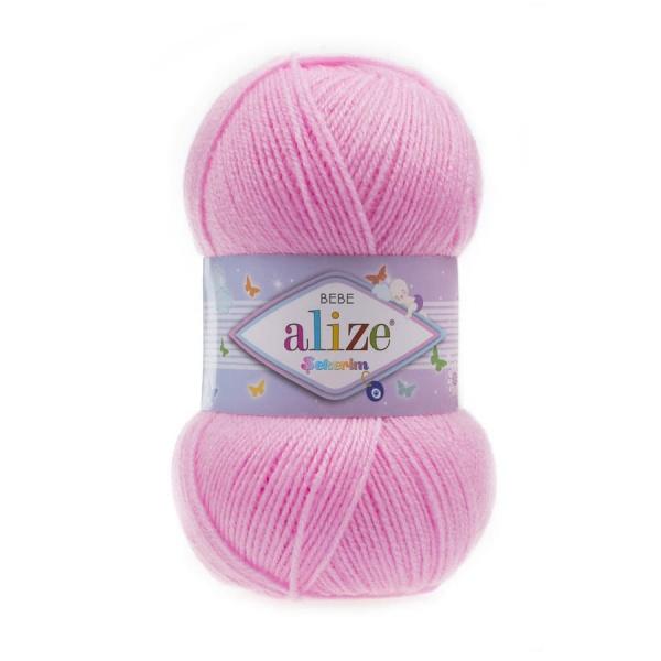 Пряжа Sekerim BEBE  (Alize), цвет 191 розовый