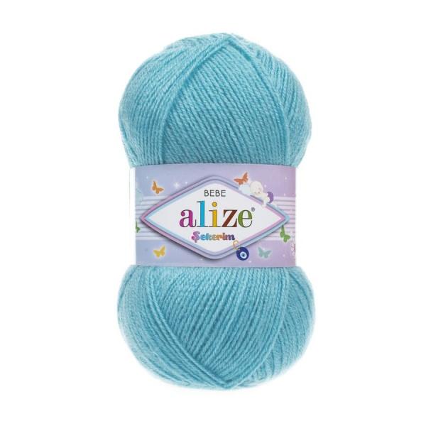 Пряжа Sekerim BEBE  (Alize), цвет 287 светло-бирюзовый