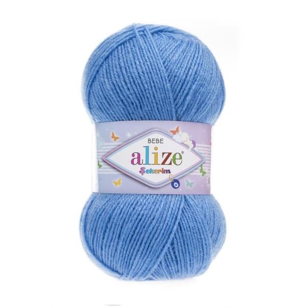 Пряжа Sekerim BEBE  (Alize), цвет 289 темно-голубой