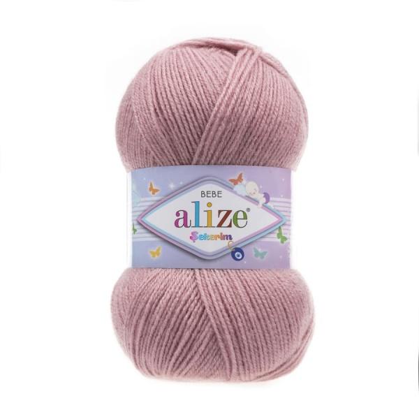 Пряжа Sekerim BEBE  (Alize), цвет 315 розовый