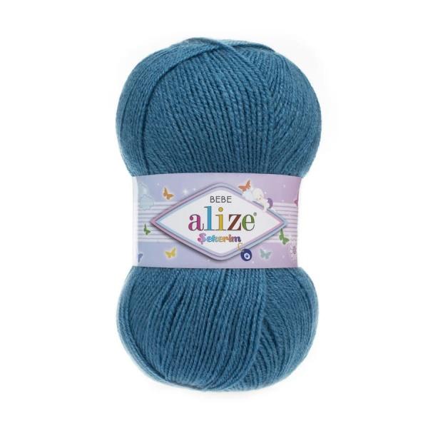 Пряжа Sekerim BEBE  (Alize), цвет 387 темно-бирюзовый
