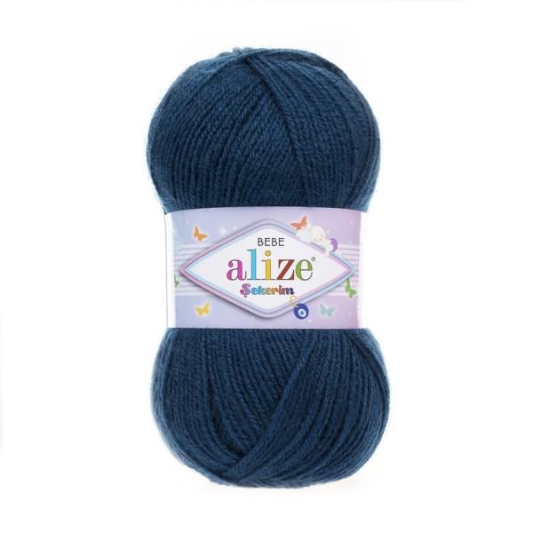 Пряжа Sekerim BEBE  (Alize), цвет 434 чернильно-синий