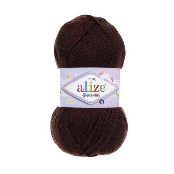 Пряжа Sekerim BEBE  (Alize), цвет 493 каштановый